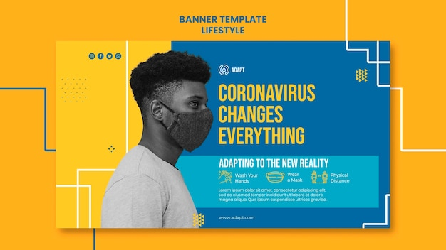 Koronawirus zmienia szablon banera