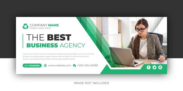 Korporacyjna agencja biznesowa social media baner internetowy facebook okładka szablon projektu ulotki
