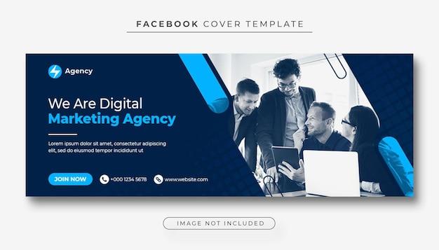 Korporacyjna i cyfrowa promocja marketingu biznesowego zdjęcie na okładkę facebooka i baner internetowy