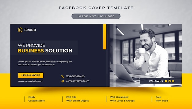 Korporacyjna i kreatywna agencja biznesowa okładka facebooka i szablon banera internetowego