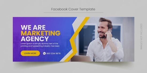 Korporacyjna okładka na facebooku na osi czasu i szablon banera internetowego