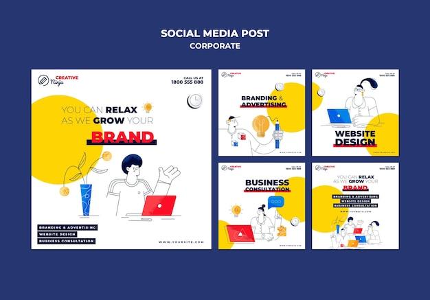 Korporacyjne posty w mediach społecznościowych