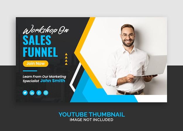 Korporacyjne seminarium biznesowe dotyczące marketingu miniatury youtube lub szablonu banera internetowego