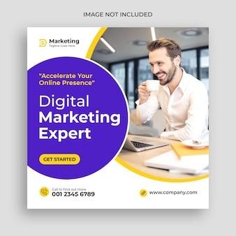 Korporacyjny i cyfrowy biznes marketing promocyjny baner społecznościowy