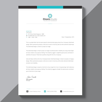 Korporacyjny niebieski szablon broszura