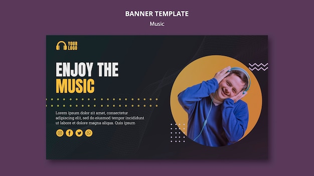 Korzystaj z szablonu banner koncepcja muzyki