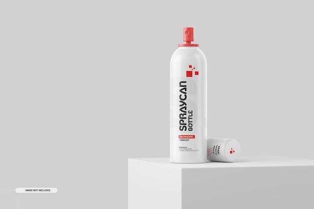 Kosmetyki spray can bottle jar makieta