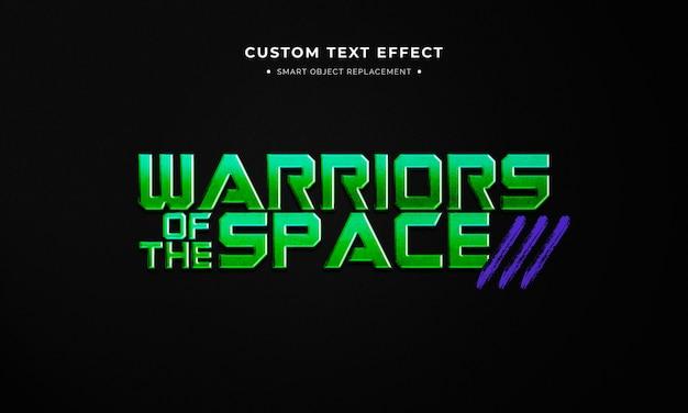 Kosmiczny film 3d efekt stylu tekstu