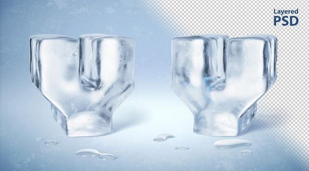 Kostka lodu 3d odpłacająca się litera y