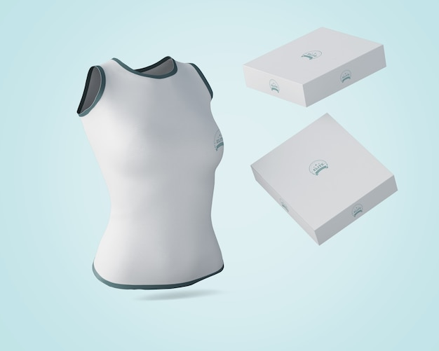 Koszula makieta z pływającymi pudełkami