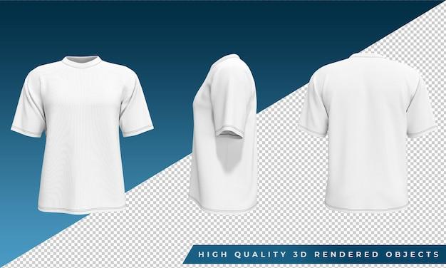 Koszulka z koszulką 3d rendered objects obrazy z przodu i z tyłu