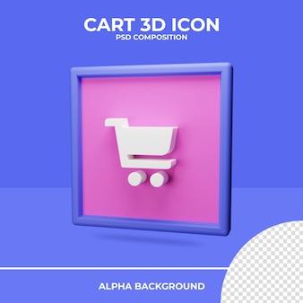Koszyk renderowania 3d ikony renderowania