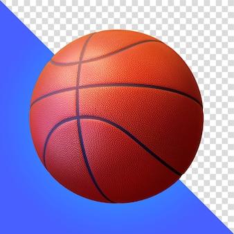 Koszykówka 3d render na białym tle