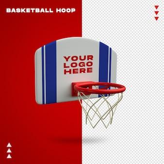 Koszykówka hoop makieta w renderowaniu 3d na białym tle