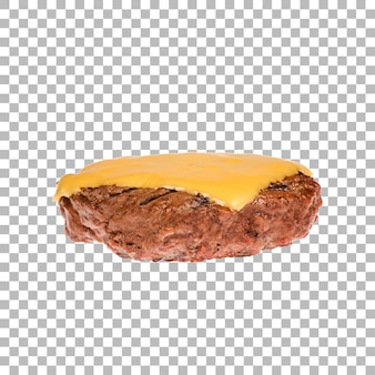 Kotlet na białym tle z pokrojonym serem