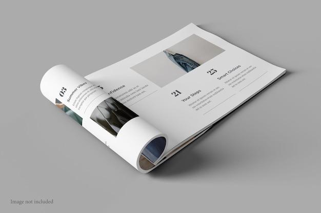 Krajobraz magazyn i makieta książki widok perspektywiczny