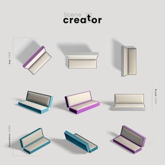 Kreator scen z kolekcją pudełek prezentowych