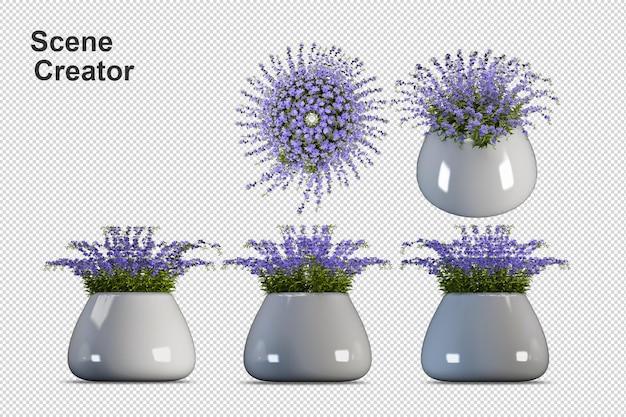 Kreator sceny kwiaty rozdziela elementy
