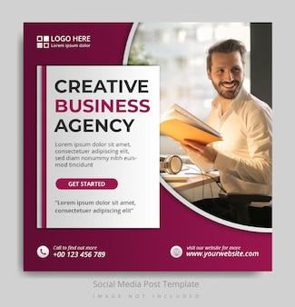 Kreatywna agencja biznesowa szablon postu w mediach społecznościowych