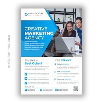 Kreatywna agencja marketingowa i szablon projektu ulotki korporacyjnej