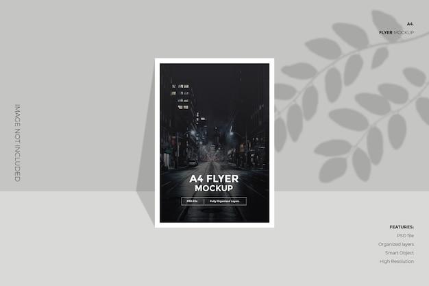 Kreatywna i minimalna makieta broszury ulotki