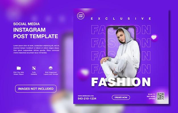 Kreatywna promocja sprzedaży mody szablon postu na instagram