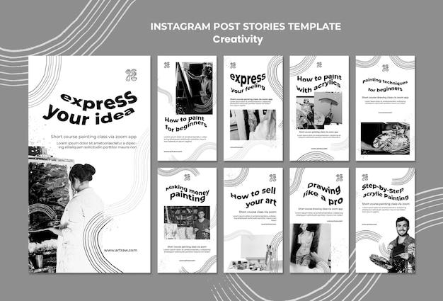 Kreatywne historie z mediów społecznościowych