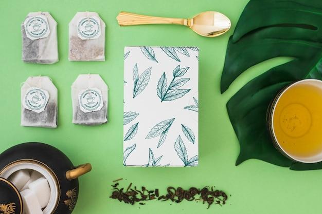 Kreatywne makieta herbaty