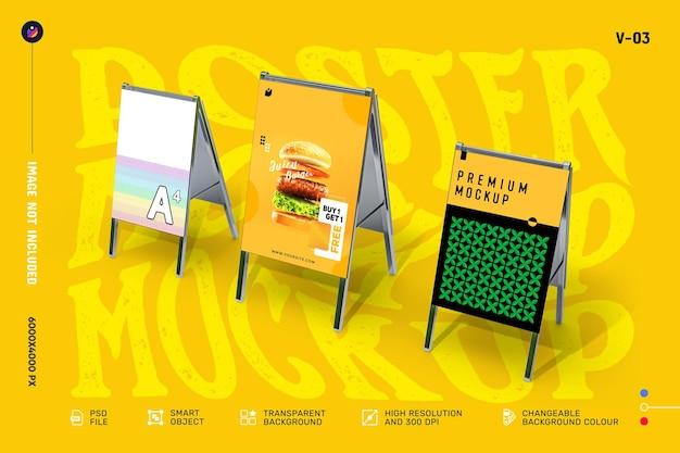 Kreatywne makiety ulotek i plakatów do zaprezentowania