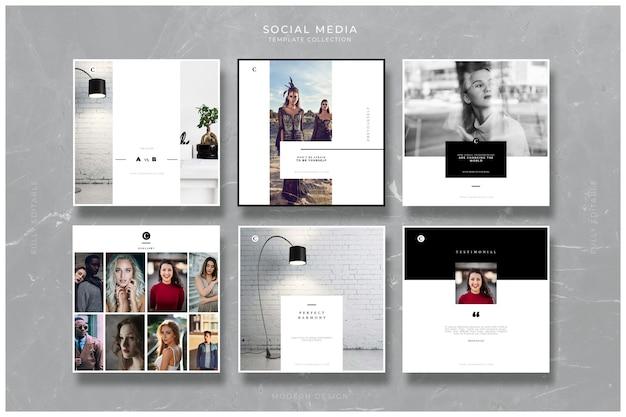 Kreatywne szablony mediów społecznościowych