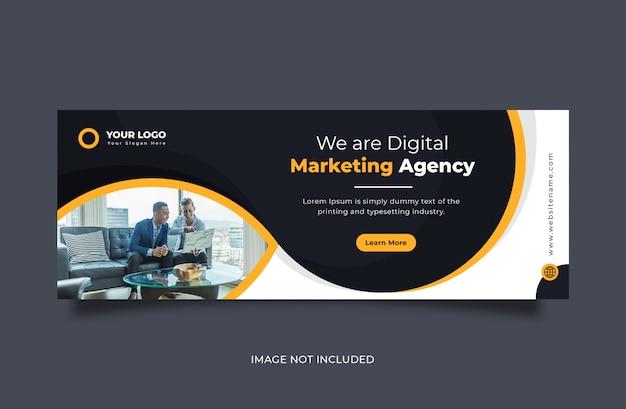 Kreatywny biznes projekt banera okładki na facebooku