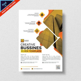 Kreatywny biznes ulotka szablon nowoczesny design