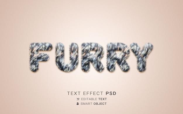 Kreatywny efekt futrzanego tekstu