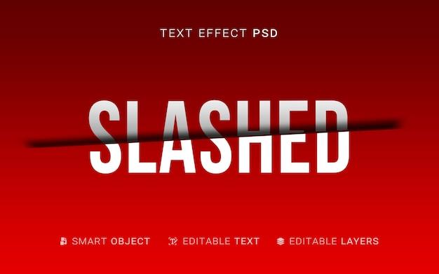 Kreatywny efekt pokrojonego tekstu