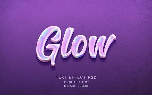 Kreatywny efekt tekstowy holografii