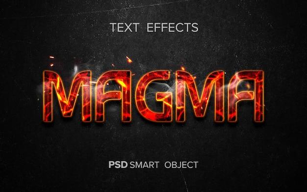Kreatywny efekt tekstowy ognia