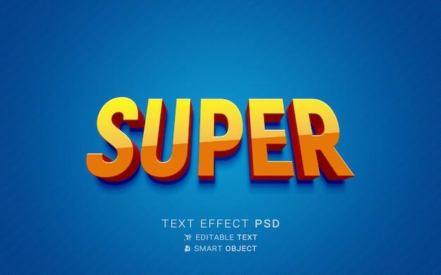 Kreatywny efekt tekstowy superbohatera