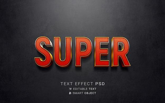 Kreatywny Efekt Tekstowy Superbohatera Darmowe Psd
