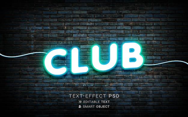 Kreatywny efekt tekstu neonowego