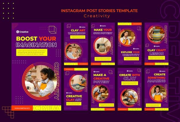 Kreatywny i pomysłowy szablon projektu insta story