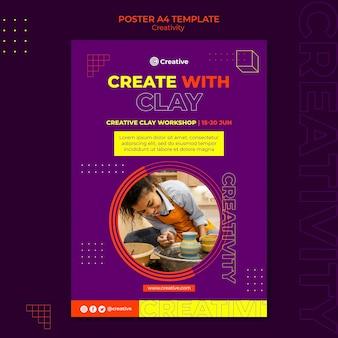 Kreatywny i pomysłowy szablon projektu plakatu