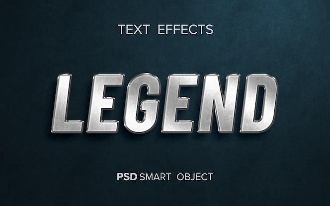 Kreatywny metaliczny efekt tekstowy