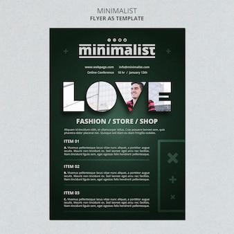 Kreatywny minimalistyczny szablon plakatu
