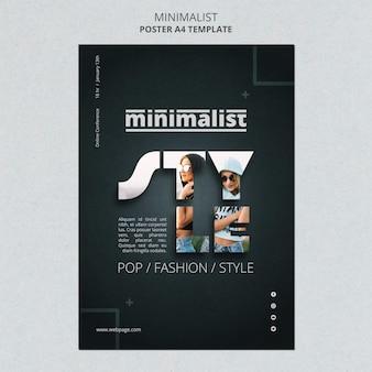 Kreatywny minimalistyczny szablon ulotki