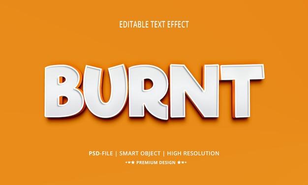 Kreatywny spalony styl edytowalnych efektów tekstowych 3d