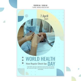 Kreatywny światowy dzień zdrowia plakat szablon ze zdjęciem