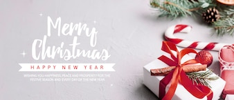Kreatywny szablon baner strony Boże Narodzenie