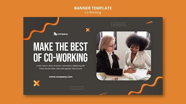 Kreatywny szablon banera coworkingowego