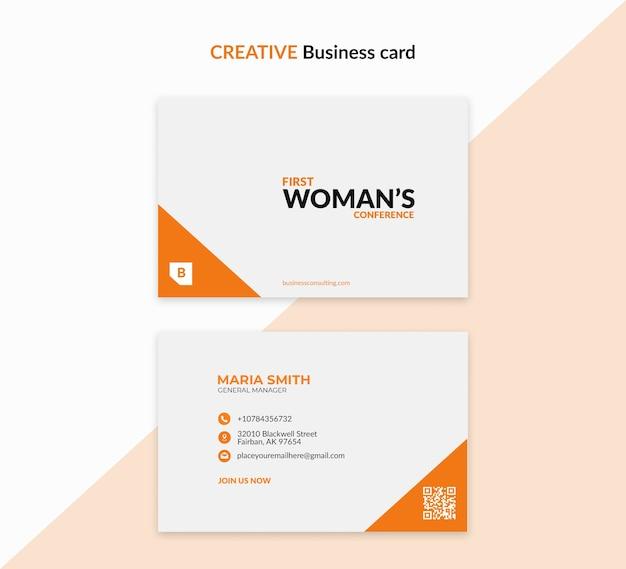 Kreatywny szablon dla kobiety biznesu