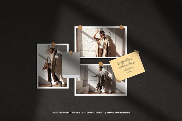 Kreatywny szablon moodboard i photo collage